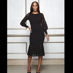 NWT Eva Mendes Kamala sweater dress in black